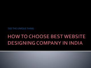 How to find best web design service in India