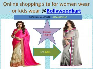 Online Shopping for Women Saree OR Best Designer Western Wear