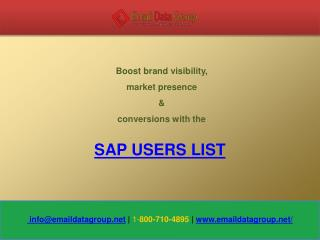 SAP clients database