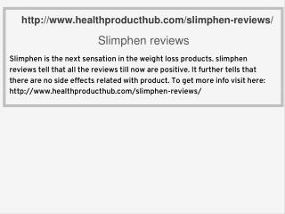 Slimphen reviews