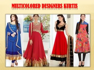Multicolored designers kurtis