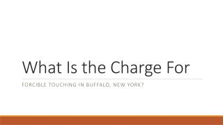 What Penalties Are There For Forcible Touching In Buffalo