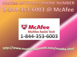 McAfee Antivirus Customer 1-844-353-6003 Support Helpline Number