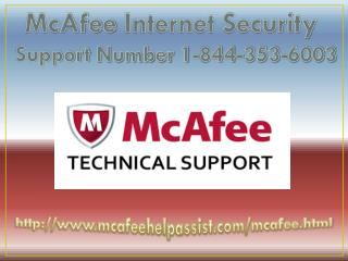 Mcafee Antivirus Technical 1-844-353-6003 Support Phone Number