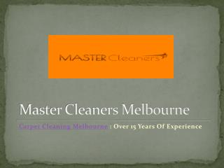 Master Cleaners Melbourne