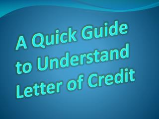 Standby Letter of Credit Manual