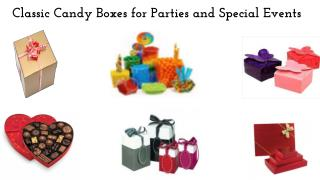 Classic Candy Boxes for Parties, Festival and Special Events