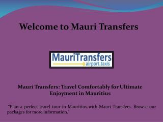 Transfers in Mauritius, Mauritius airport transfers