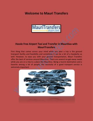 Mauritius Airport Transfers, Mauritius Transfers