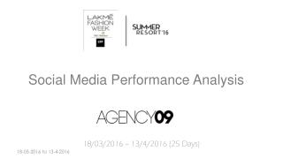 Lakme Fashion Week - Summer Resort 2016 - Social Media Coverage - AGENCY09