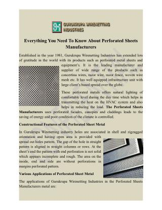 perforated sheets manufacturers Delhi, perforated sheets exporter,wholesaler Ind