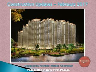 Construction Update for Casa Greens 1 - February 2017