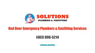 Red Deer Emergency Plumbers & Gasfitting Services