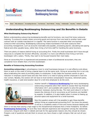 Understanding Bookkeeping Outsourcing and Its Benefits in Details