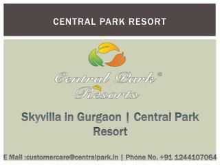 Villa in Gurgaon | Central Park Resorts