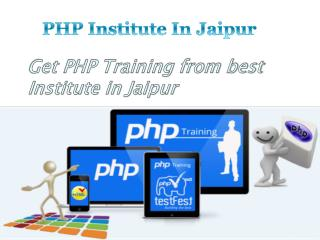 PHP Institute in Jaipur - traininginstituteinjaipur.net
