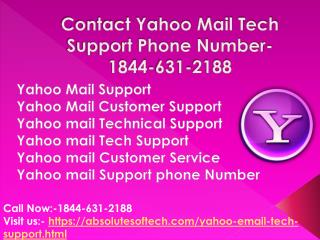 Contact Yahoo Mail Tech Support Phone Number-1844-631-2188