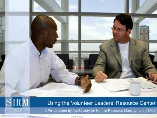 Using the Volunteer Leaders' Resource Center