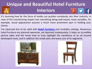 Unique and Beautiful Hotel Furniture Interiors