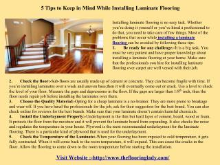 5 Tips to Keep in Mind While Installing Laminate Flooring