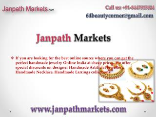 Buy Handmade Jewellery Online India - janpathmarkets.com