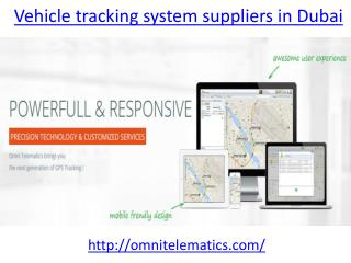Which is the best Vehicle tracking system suppliers in dubai
