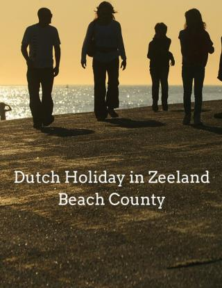 Dutch Holiday in Zeeland Beach County