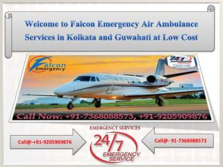 Advanced Air Ambulance Services in Kolkata and Guwahati at Low Cost