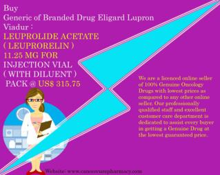 Buy Leuprolide Acetate 11.25 Mg For Injection Vial @ Us$ 315.75