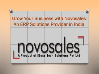 Grow Your Business with Novosales