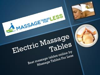Best Electric Massage Tables Online