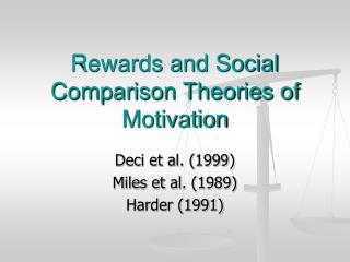 Rewards and Social Comparison Theories of Motivation