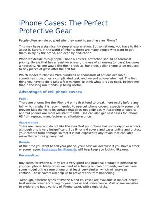 iPhone Cases: The Perfect Protective Gear