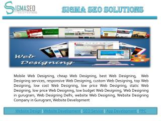 Web Designing and Development in Gurgaon.