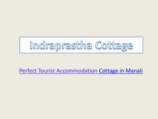 Budget Luxury Indraprastha Cottage In Manali