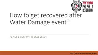 Water Damage Tulsa | Water cleanup Services Oklahoma