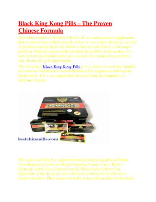 Black King Kong Pills – The Proven Chinese Formula