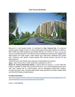 Gaur Yamuna City Review