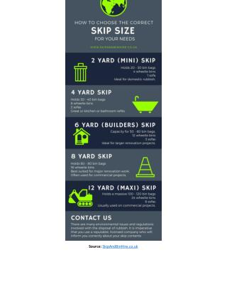 Infographic: How To Choose The Correct Skip Size