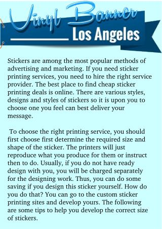 Choosing Sticker Printing Los Angeles Is Now Easier Than Ever