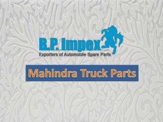 Buy Mahindra Spare Parts - BP Auto Spares India