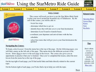 Using the StarMetro Ride Guide