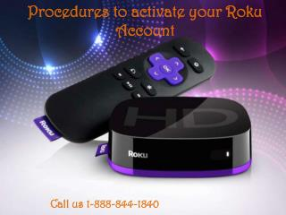 Procedures to activate your Roku Account