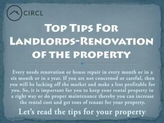Top Tips For Landlords-Renovation of theproperty