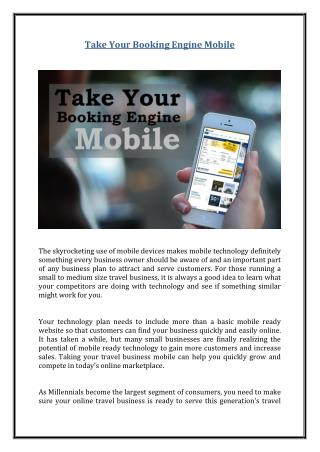 Take Your Booking Engine Mobile