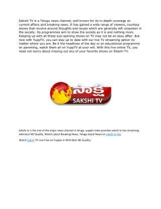 Sakshi   Sakshi TV Live