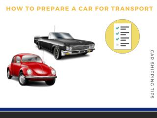 Steps to Prepare Classic Car Before Shipping