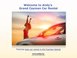 Best-in-class Economic Car Rentals Available in Cayman!