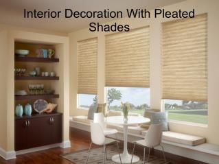 Interior Decoration With Pleated Shades