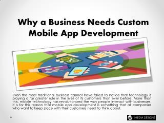 Why a Business Needs Custom App Development | iMedia Designs